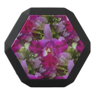 Tropical Cattleya Orchid Flower Black Bluetooth Speaker