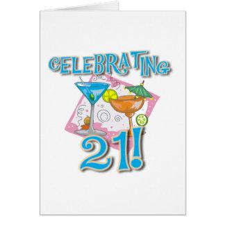 Tropical Celebrating 21 Cards
