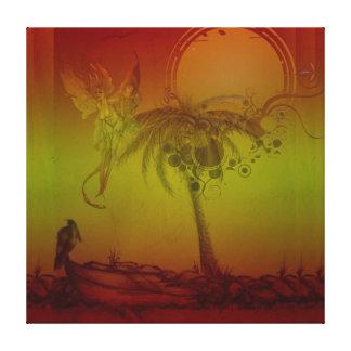 Tropical Celestial Spirit Gallery Wrap Canvas