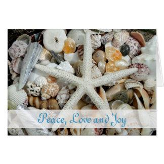 Tropical Christmas Cards With Starfish