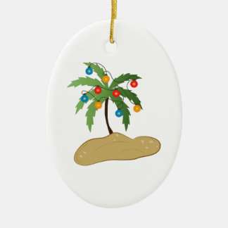 Tropical Christmas Christmas Ornament