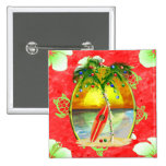 Tropical Christmas Palm Tree Badges