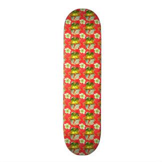 Tropical Christmas Palm Tree Skate Board