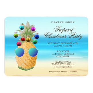 Tropical Christmas Pineapple | Party Invite