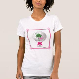 Tropical Christmas snow globe T-Shirt