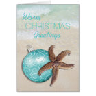 Tropical Christmas Starfish Ornament Beach Card