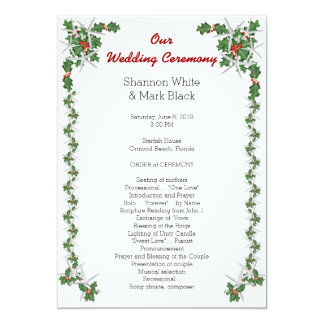 christmas wedding program template gifts t shirts art posters other gift ideas zazzle. Black Bedroom Furniture Sets. Home Design Ideas
