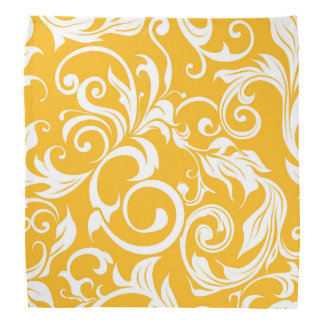 Tropical Citrus Orange Floral Wallpaper Pattern Bandana