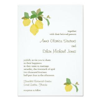 Tropical Citrus Wedding Invitation