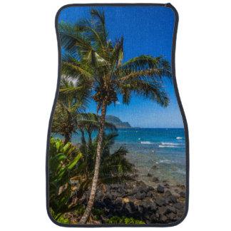 Tropical coastline car mat