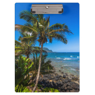 Tropical coastline clipboard