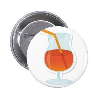 tropical Cocktail 6 Cm Round Badge