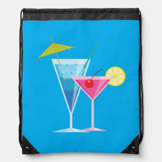 Tropical Cocktails Drawstring Backpack