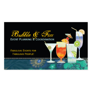 Tropical Cocktails Event Planner Business Cards