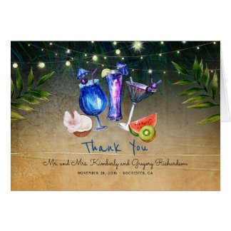 Tropical Cocktails Special Event Beach Thank You Card