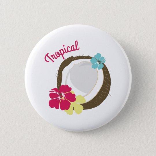 Tropical Coconut 6 Cm Round Badge