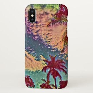 Tropical coconut palm paradise sunset iPhone x case