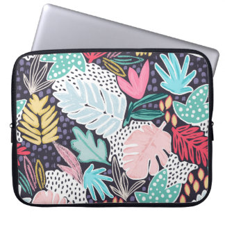 Tropical Collage Colourful Pattern Laptop Sleeve