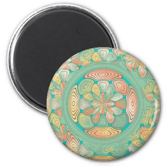 Tropical color abstract 6 cm round magnet