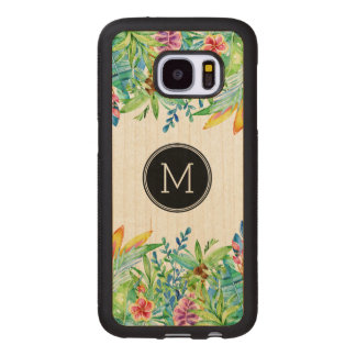 Tropical colorful floral design GR2 Wood Samsung Galaxy S7 Case