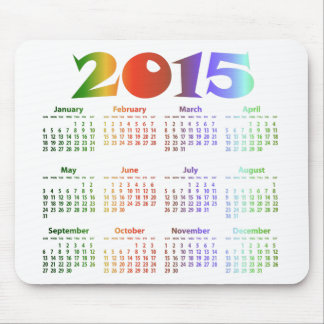 Tropical Colors 2015 Calendar Mouse Pad