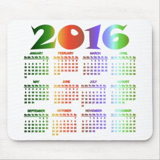 Tropical Colors 2016 Calendar Mouse Pad