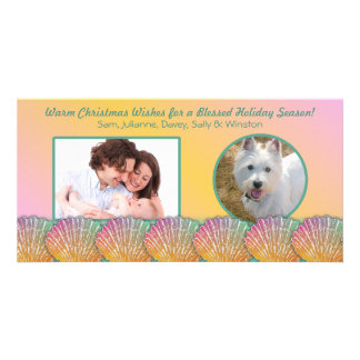 Tropical Colors Warm Climate Holiday Photo Card