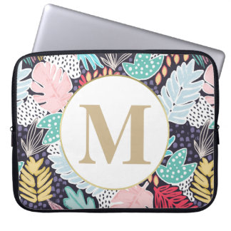 Tropical Colourful Collage Pattern Laptop Sleeve