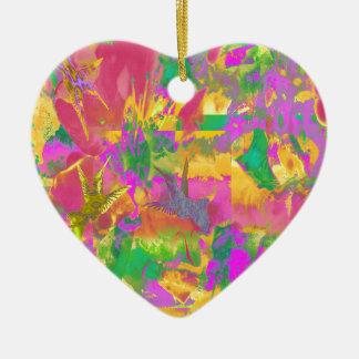 Tropical Colours Ceramic Heart Decoration
