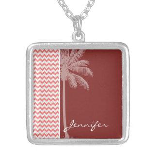 Tropical Coral Chevron Jewelry