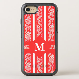 Tropical Coral Damas with Monogram OtterBox Symmetry iPhone 8/7 Case