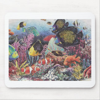Tropical Coral Fish Dance Mouse Pad
