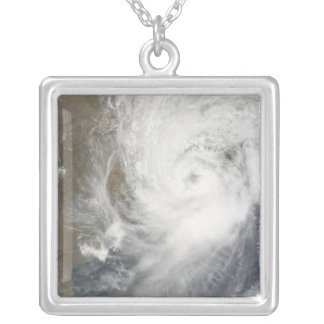 Tropical Cyclone Aila Silver Plated Necklace