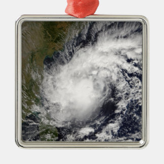 Tropical Cyclone Baaz Silver-Colored Square Decoration