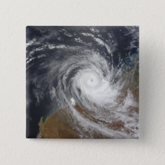Tropical Cyclone Billy over Australia 2 15 Cm Square Badge