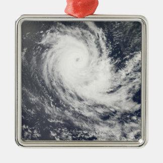 Tropical Cyclone Carina Silver-Colored Square Decoration