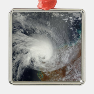 Tropical Cyclone Carlos Silver-Colored Square Decoration