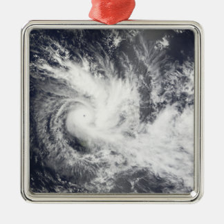 Tropical Cyclone Daman Silver-Colored Square Decoration