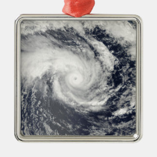 Tropical Cyclone Edzani in the South Indian Oce Silver-Colored Square Decoration