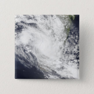 Tropical Cyclone Fami hovers over Madagascar 15 Cm Square Badge