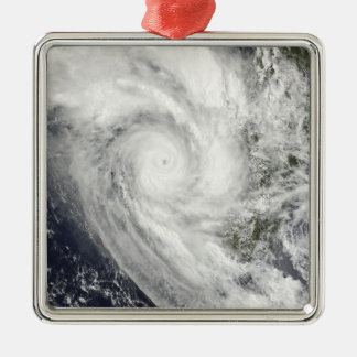 Tropical Cyclone Fanele over Madagascar Silver-Colored Square Decoration