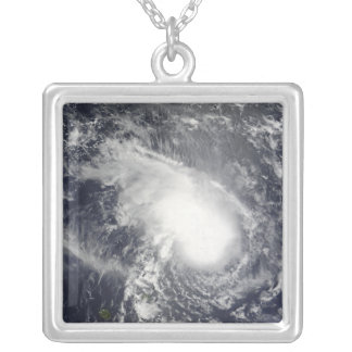 Tropical Cyclone Gael approaching Madagascar Silver Plated Necklace