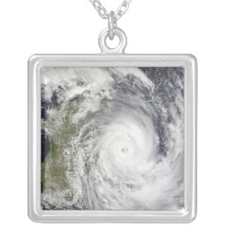 Tropical Cyclone Gael off Madagascar 2 Silver Plated Necklace