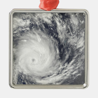 Tropical Cyclone Gael off Madagascar Silver-Colored Square Decoration