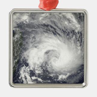Tropical Cyclone Gael Silver-Colored Square Decoration
