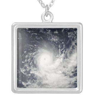 Tropical Cyclone Gelane Silver Plated Necklace
