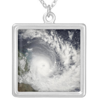 Tropical Cyclone Hamish over Australia Silver Plated Necklace