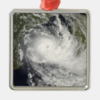 Tropical Cyclone Jokwe in the Mozambique Channe Square Metal Christmas Ornament