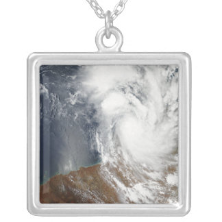 Tropical Cyclone Laurence Silver Plated Necklace