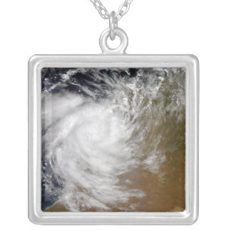 Tropical Cyclone Magda coming ashore in Austral Silver Plated Necklace